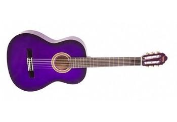 Valencia VC151 (5-7 yaş grubu) PPS - Mor Sunburst - 1/4 Klasik Gitar