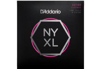 D'Addario NYXL32130, Set Long Scale, Regular Light 6-String, 32-130 Takım Tel - 6 Telli Bas Gitar Teli 032-130