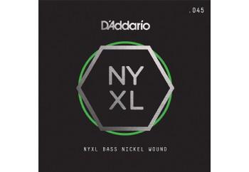 D'Addario NYXL Bass Nickel Wound Singles .045 - Bas Gitar Tek Tel