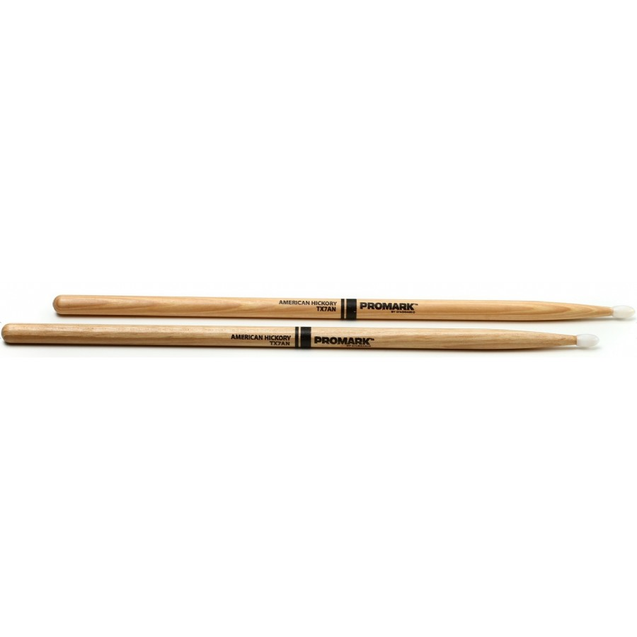 ProMark TX7AN 7A Nylon Tip Hickory Drumsticks