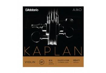 D'Addario Kaplan Amo KA310 4/4H Violin Set, Heavy Tension Takım Tel - Keman Teli