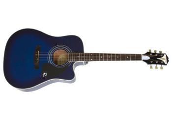 Epiphone Pro-1 Ultra EEPUTLCH1 - Trans Blue - Elektro Akustik Gitar