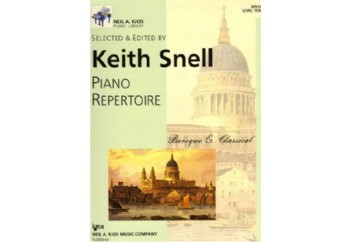 Piano Repertoire Barok/Klasik Level 10 Kitap - Keith Snell