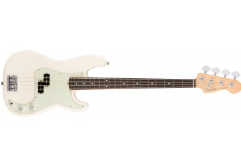 Fender American Professional Precision Bass Olympic White - Rosewood - Bas Gitar