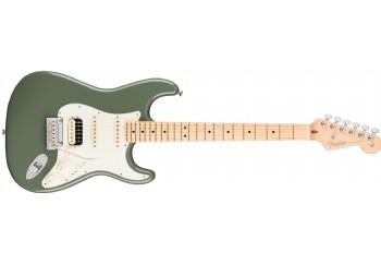 Fender American Pro Stratocaster HSS Shawbucker Antique Olive - Maple