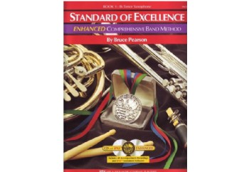 Standard of Excellence Enhanced Book 1 Tenor Saxophone Kitap - Tenor Saksofon Metodu (2 CD'li)