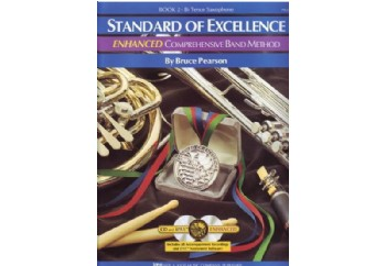 Standard of Excellence Enhanced Book 2 Tenor Saxophone Kitap - Tenor Saksofon Metodu (2 CD'li)
