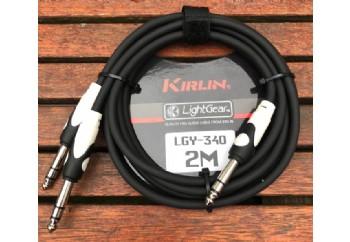 KIRLIN LGY-340-2 LightGear Y-Cable 2 metre - 1/4 inch TRS Plug - 2x 1/4 inch TRS Plug Y-kablo (2mt)
