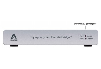 Apogee Symphony 64 ThunderBridge - 64 kanal, Symphony I/O Thunderbolt arabirim