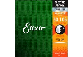 Elixir 14702 Stainless Steel Nanoweb Coated Medium Long Scale - Bas Gitar Teli 050-105