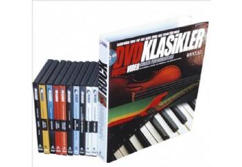 DVD Klasikler - Rock Müzik Fasikül Seti Kitap + DVD - 10 DVD Hediye