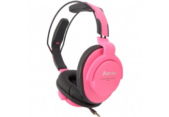 Superlux HD661 Professional Monitoring Headphones Pembe
