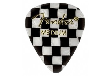 Fender 351 Shape Graphic Picks Checker - Medium - 1 Adet