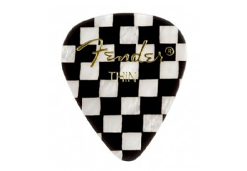 Fender 351 Shape Graphic Picks Checker - Thin - 1 Adet