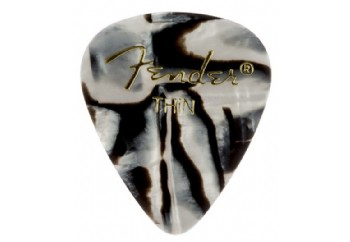 Fender 351 Shape Graphic Picks Zebra - Thin - 1 Adet