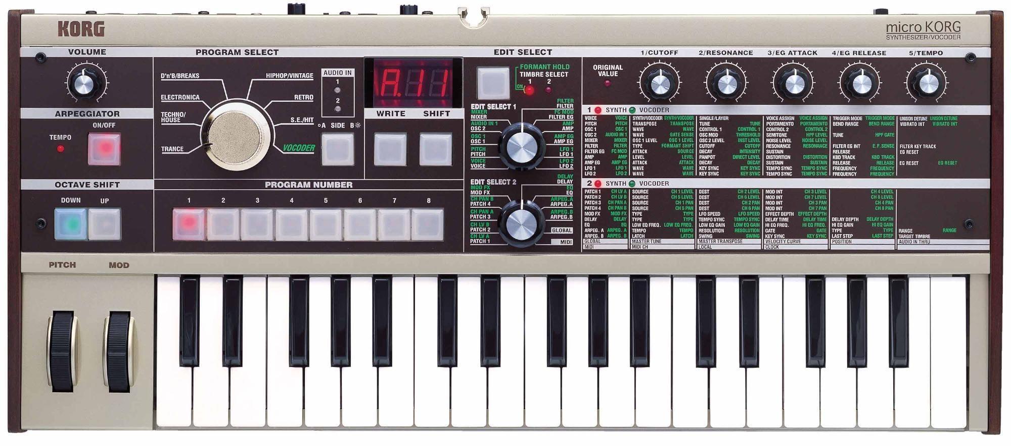 Korg microKORG Synthesizer with Vocoder - Synthesizer