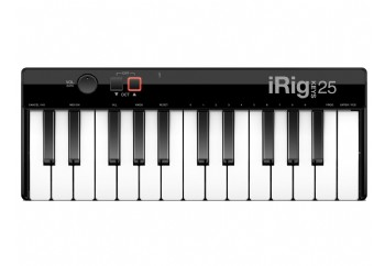 IK Multimedia iRig Keys 25 - MAC ve PC için 25 mini tuşlu USB MIDI Klavye
