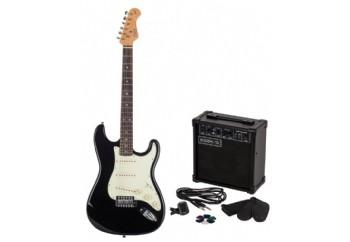 Kozmos KGP-STG10 BK - Siyah - Elektro Gitar Seti