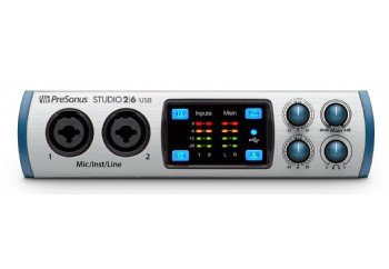 Presonus Studio 2|6 - Yeni nesil 2 Giriş / 6 Çıkış, 2 mikrofon girişli USB 2.0 ses kartı