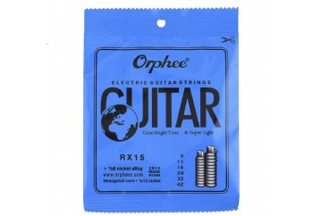 Orphee-RX15 Electric Guitar Strings Regular Slinky Takım Tel - Elektro Gitar Teli 009-042