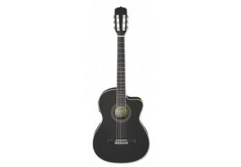Aria AK30CETN BK - Siyah - İnce Kasa Elektro Klasik Gitar