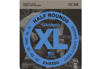 DAddario EHR350 Half Round Jazz Light - Elektr Gitar Teli 012-052