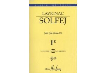 Lavignac Solfej 1E Şan Çalışmaları Kitap - Henry Lemoine