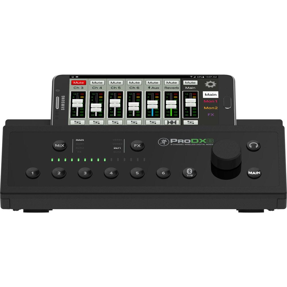 mackie prodx8 8 channel wireless digital mixer wireless mikser. Black Bedroom Furniture Sets. Home Design Ideas
