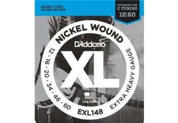 D'Addario EXL148 Nickel Wound Extra-Heavy Takım Tel - Elektro Gitar Teli 012-060