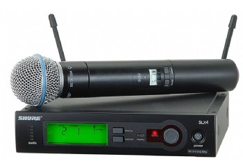 Shure SLX24/Beta58 Handheld Wireless System - Telsiz Mikrofon Sistemi (Wireless-Kablosuz)