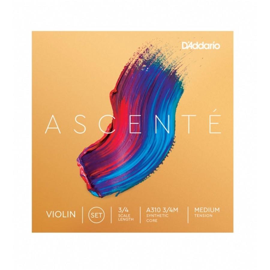 D'Addario A310 3/4M Medium Tension Ascent Violin String Set