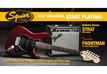 Squier Affinity Strat with Fender Frontman Amp HSS Candy Apple Red