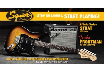 Squier Affinity Strat with Fender Frontman Amp HSS Brown Sunburst