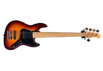 Marcus Miller By Sire V7 Vintage Alder 5 Fretless Tobacco Sunburst - 5 Telli Perdesiz Bas Gitar