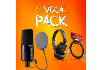 B-Vocal Pack - Mikrofon, Pop Filter, Kulaklık ve Mikrofon Kablosu