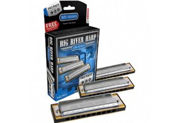 Hohner Big River Harp Pro Pack - 3'lü Mızıka Seti