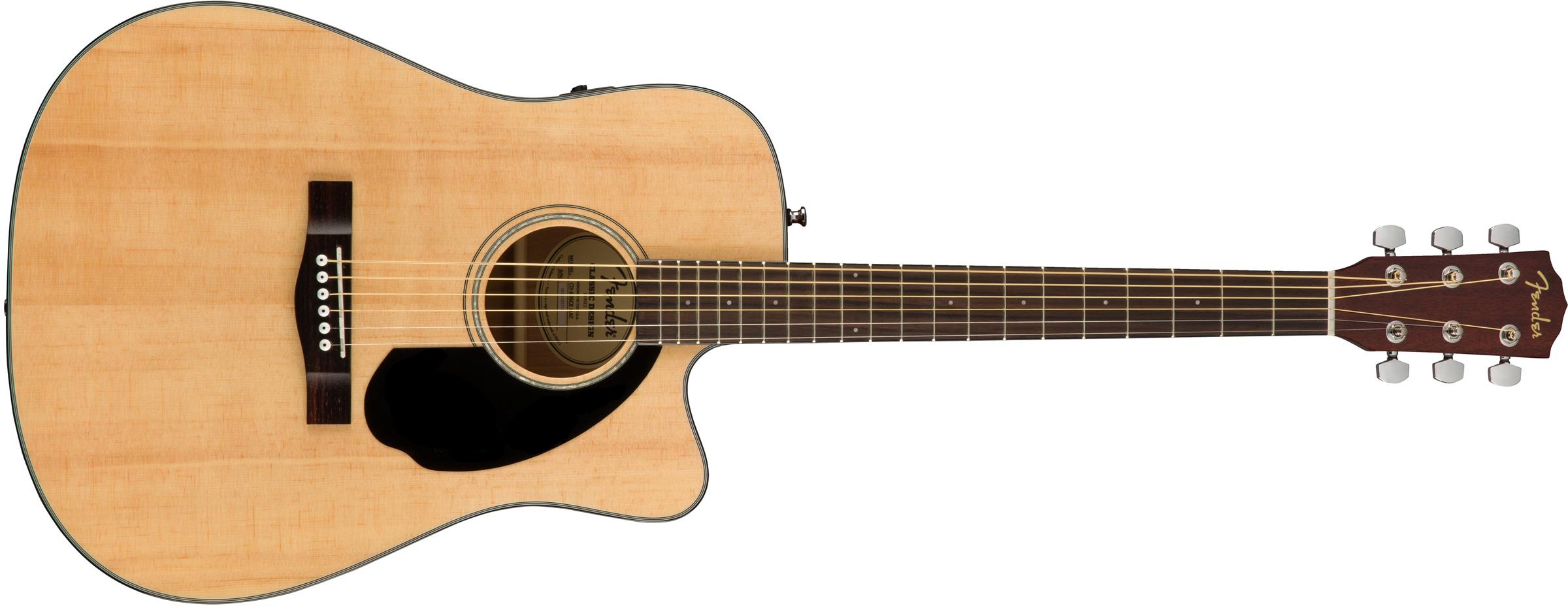 Fender Cd 60sce Natural Elektro Akustik Gitar Mydukkan