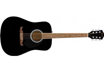 Fender FA-125 Dreadnought Acoustic Guitar Black - Walnut - Akustik Gitar