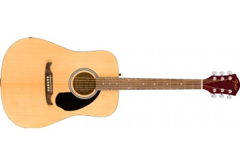 Fender FA-125 Dreadnought Acoustic Guitar Natural - Walnut - Akustik Gitar