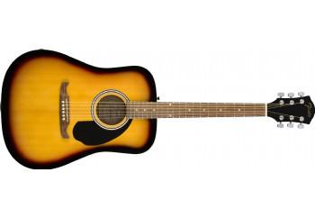 Fender FA-125 Dreadnought Acoustic Guitar Sunburst - Walnut - Akustik Gitar