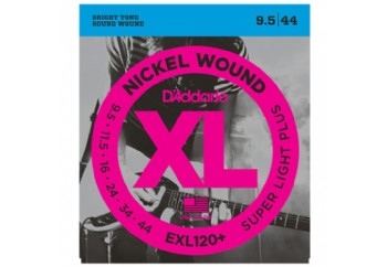 D'Addario EXL120+ Nickel Wound, Super Light Plus, 9.5-44 Takım Tel - Elektro Gitar Teli .0095-044