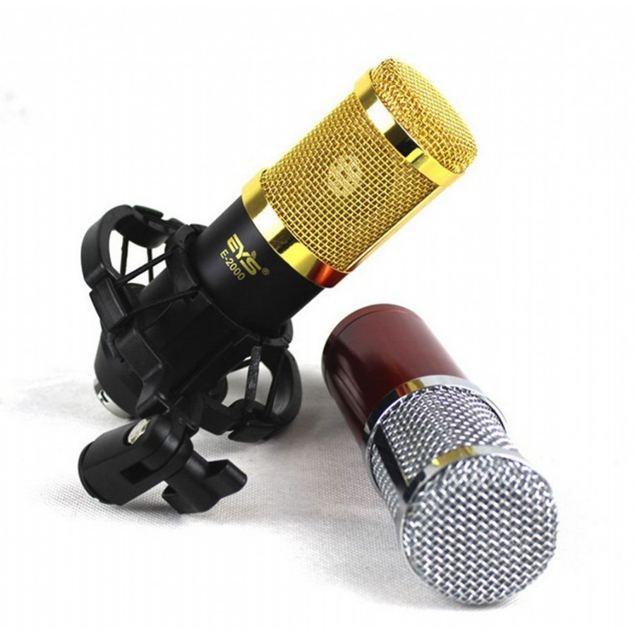EYS E-2000 3.5mm Professional Large Diaphragm Condenser Karaoke Recording Microphone