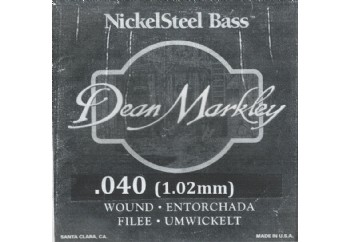 Dean Markley Nickel Steel Bass .040 - Bas Gitar Tek Tel