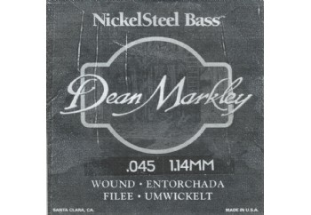 Dean Markley Nickel Steel Bass .045 - Bas Gitar Tek Tel