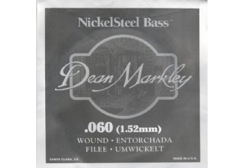 Dean Markley Nickel Steel Bass .060 - Bas Gitar Tek Tel
