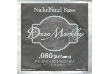 Dean Markley Nickel Steel Bass .080 - Bas Gitar Tek Tel