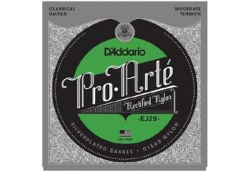 D'Addario EJ29 Pro-Arté Rectified Trebles, Moderate Tension Takım Tel - Klasik Gitar Teli