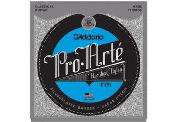 D'Addario EJ31 Pro-Arté Rectified Trebles, Hard Tension Takım Tel - Klasik Gitar Teli