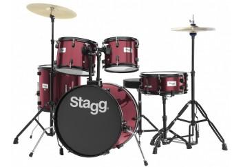 Stagg TIM120B 5 Parça Davul Seti Wine Red - Akustik Davul Seti