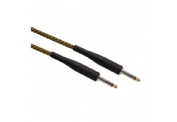 Ashton GW20 20FT Guitar Cable Woven Gold